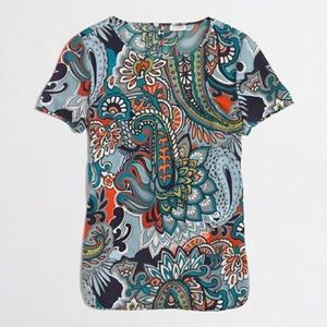 J Crew Factory paisley easy top